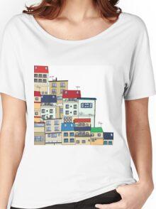 Old slum city cartoon Women's Relaxed Fit T-Shirt