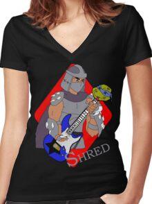 Shredder Women's Fitted V-Neck T-Shirt