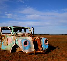 Desert Graffiti Car by Caroline Stills