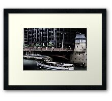 Adams Street Bridge Chicago Framed Print