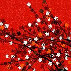 Red floral tree  by Richard Laschon
