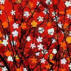 Floral tree red by Richard Laschon