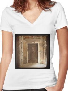MERCHANT OF VENICE - One of Many Women's Fitted V-Neck T-Shirt
