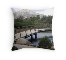 Bridge over troubled waters. Throw Pillow