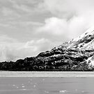 Glacier in Black and White by Rhonda  Thomassen