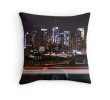 Boulevard East Throw Pillow