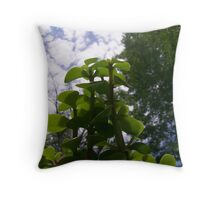 Elephant Bush Throw Pillow