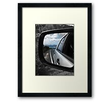 Review mirror Framed Print