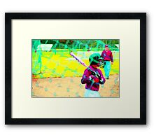 Pink Bat Framed Print