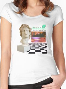Macintosh Plus - Floral Shoppe Women's Fitted Scoop T-Shirt
