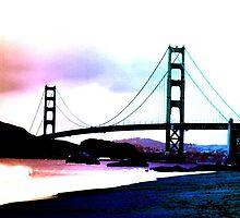 Golden Gate Bridge in Pastel by savapavo