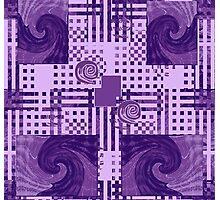 Passionately Purple Pattern Photographic Print