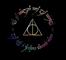 Deathly Hallows Color by bubbleshoptee
