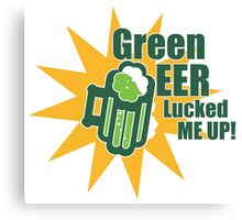 Green Beer Luck Canvas Print