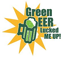 Green Beer Luck Photographic Print