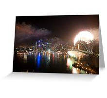 Sydney New Years Eve 2008 Greeting Card