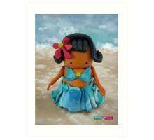 CHUNKIE Hula Girl Art Print
