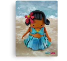 CHUNKIE Hula Girl Canvas Print