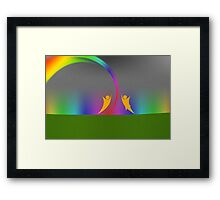 Rainbow Dance v1 Framed Print