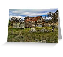 Snowy Mountains Shearing Shed Greeting Card