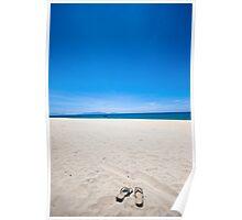 Thongs on a beach Poster