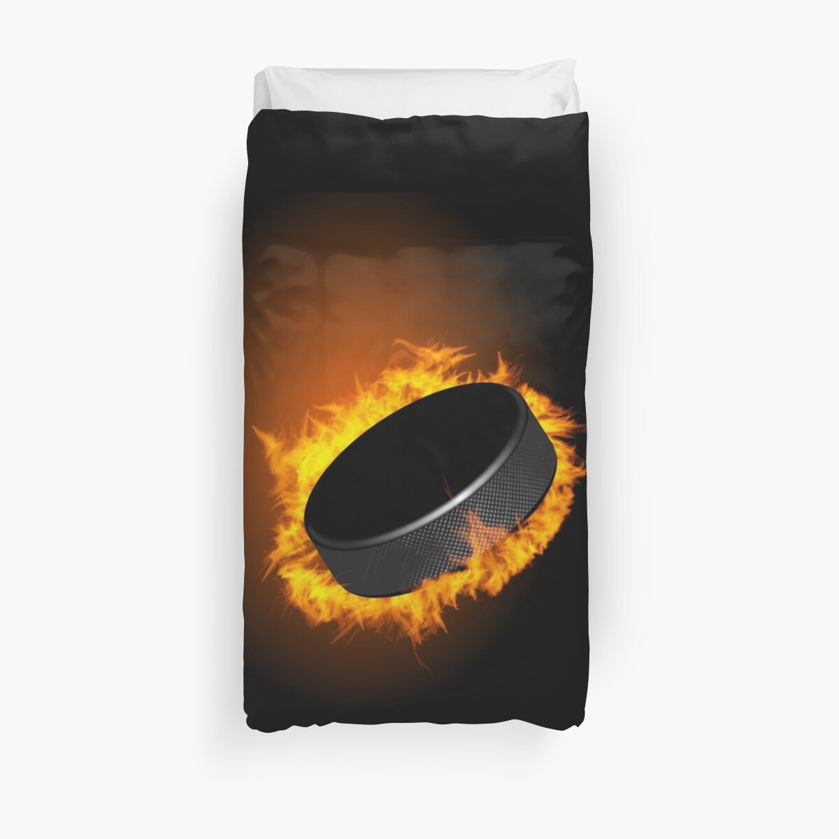 Burning Hockey Puck  by CroDesign