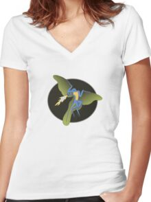 Archaeopteryx (the fire breathing kind) Women's Fitted V-Neck T-Shirt