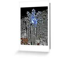 The Pattern of Melt, Freeze, Melt, Freeze Greeting Card