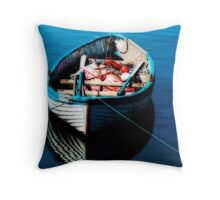 """Tethered Boat"" Throw Pillow"