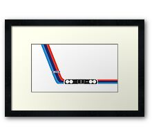 BMW 3 Series (E30) kidney grill and headlights with M stripes Framed Print