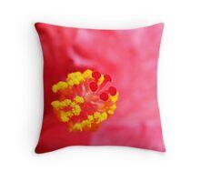 Hibiscus cerise Throw Pillow