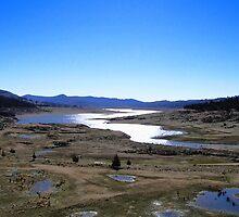 Wyangala Dam - 10% Full by Jan Richardson