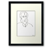 Abstract sketch of face Framed Print