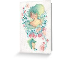 The Woman in the Flowers Greeting Card
