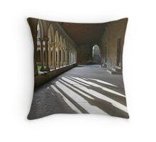 Saint-Hilaire: The cloister Throw Pillow