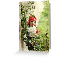 Dieselpunk Poison Ivy Embrace Greeting Card
