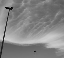 Mammatus Clouds and Street Lamps  by jojobob