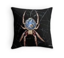 Earth Spider Throw Pillow