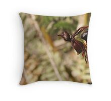 "Flying Duck Orchid ""Caleana major"" Throw Pillow"