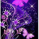 Purple Butterflies Prints / iPhone / iPad / Samsung Case/  / Pillow / Tote Bag by CroDesign
