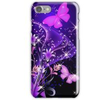 Purple Butterflies Prints / iPhone / iPad / Samsung Case/  / Pillow / Tote Bag iPhone Case/Skin
