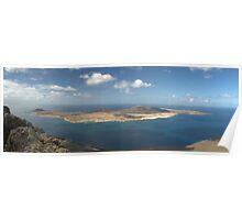 view of La Graciosa from Island of Lanzarote Poster