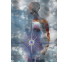 THE LIGHT WITHIN/SELF REALIZATION STARTS WITHIN ME Photographic Print