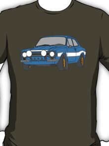 1970 Ford Escort RS2000 Fast and Furious Paul Walker's car Black Outline Colour fill. T-Shirt