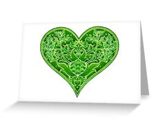 - Green heart - Greeting Card