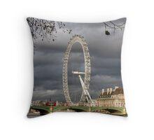 The London Eye Over Westminster Bridge Throw Pillow