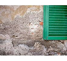 green window Photographic Print