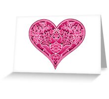 - Pink heart - Greeting Card