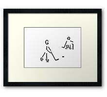 hockey player Framed Print