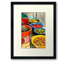Pimenta Bowls Framed Print